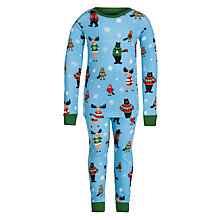 Buy Hatley Boys' Christmas Pyjamas, Blue Online at johnlewis.com