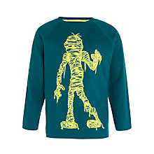 Buy John Lewis Boy Mummy Long Sleeve Top, Teal Online at johnlewis.com