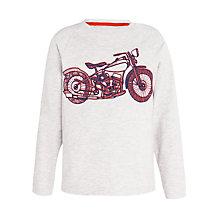 Buy John Lewis Boy Motorbike Long Sleeve Top, Oatmeal Online at johnlewis.com