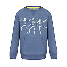 Buy John Lewis Boy Skeletons Crew Neck Sweatshirt, Blue Online at johnlewis.com