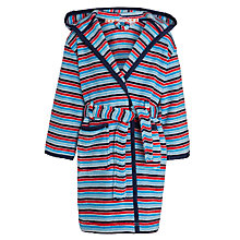 Buy John Lewis Boy Fine Stripe Robe, Blue/Red Online at johnlewis.com