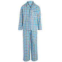 Buy John Lewis Boy Check Pyjamas, Blue Online at johnlewis.com