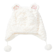Buy John Lewis Faux Fur Ears Trapper Hat, Cream Online at johnlewis.com