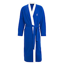 Buy Polo Ralph Lauren Shawl Collar Cotton Robe, Blue Online at johnlewis.com