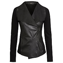 Buy Weekend by MaxMara Leather Recente Jacket, Black Online at johnlewis.com