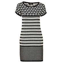 Buy Weekend by MaxMara Tegola Intarsia Dress, Black Online at johnlewis.com
