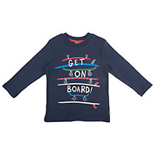 Buy Frugi Get On Board Long Sleeve Top, Navy Online at johnlewis.com