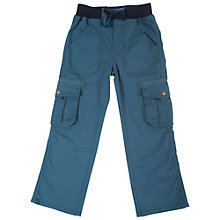 Buy Frugi Mission Combat Trousers, Dark Teal Online at johnlewis.com