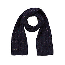 Buy John Lewis Fleck Knit Scarf, Navy/Multi Online at johnlewis.com