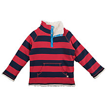 Buy Frugi Reversible Stripe Fleece, Navy/Red Online at johnlewis.com