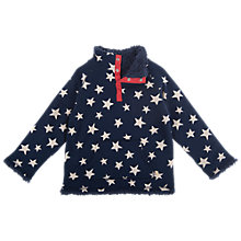 Buy Frugi Boys' Star Print Snuggle Fleece, Navy Online at johnlewis.com