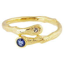 Buy Auren 22ct Gold Vermeil Sapphire and Diamond Tendril Ring Online at johnlewis.com