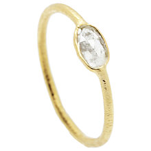 Buy Auren 22ct Gold Vermeil Diamond Slice Ring Online at johnlewis.com