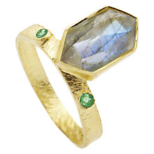 Buy Auren 22ct Gold Vermeil Hexagonal Gemstone Ring Online at johnlewis.com