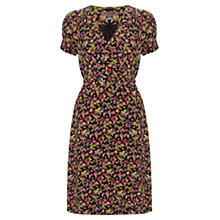 Buy Jigsaw Watercolour Leaf Wrap Dress, Multi Online at johnlewis.com