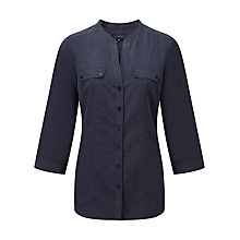 Buy Viyella Cupro Collarless Shirt, Storm Online at johnlewis.com