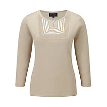 Buy Viyella Embroidered Panel Linen Jumper, Sand Online at johnlewis.com