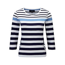 Buy Viyella Striped Cotton Top, Ink Online at johnlewis.com