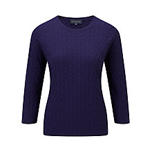 Buy Viyella Honeycomb Cotton Jumper, Ink Online at johnlewis.com