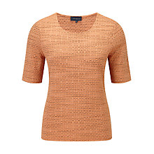 Buy Viyella Textured Top, Light Saffron Online at johnlewis.com