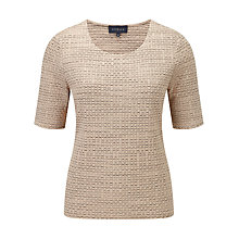 Buy Viyella Sand Textured Top, Sand Online at johnlewis.com