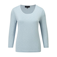 Buy Viyella Striped Jersey Top, Ice Online at johnlewis.com