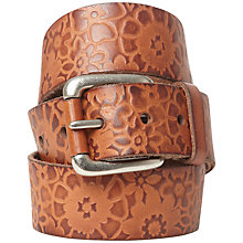 Buy White Stuff Flower Embossed Belt, Tan Online at johnlewis.com