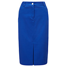 Buy Viyella Pique Pencil Skirt, Delph Blue Online at johnlewis.com