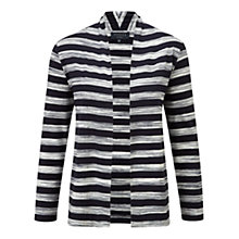 Buy Viyella Petite Stripe Space Dye Cardigan, Indigo Online at johnlewis.com