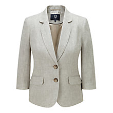Buy Viyella Linen Jacket, Sand Online at johnlewis.com