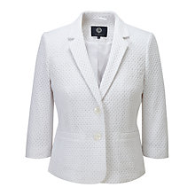 Buy Viyella Broderie Cotton Jacket, White Online at johnlewis.com