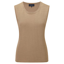 Buy Viyella Gauzy Sleeveless Cardigan, Natural Online at johnlewis.com