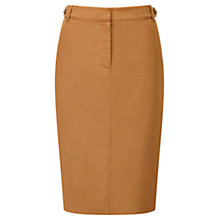 Buy Viyella Petite Silk Linen Pencil Skirt, Cinnamon Online at johnlewis.com
