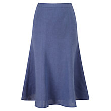 Buy Viyella Linen Skirt, Chambray Online at johnlewis.com