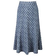 Buy Viyella Diamond Printed Skirt, Indigo Online at johnlewis.com