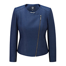 Buy Viyella Tweed Biker Jacket, Navy Online at johnlewis.com