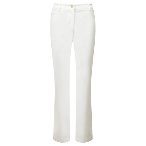 Buy Viyella Petite Smart Jeans, White Online at johnlewis.com