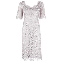 Buy Jacques Vert Luxury Lace Dress, Grey Online at johnlewis.com