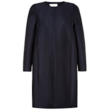 Buy Hobbs Invitation Lindsdale Wool Silk Coat, Navy Online at johnlewis.com