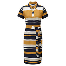 Buy Viyella Woven Stripe Shirt Dress, Indigo Online at johnlewis.com