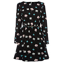 Buy Oasis Lantern Print Dress, Multi Black Online at johnlewis.com