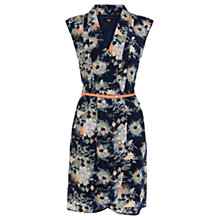 Buy Oasis Oriental Fan Silk Dress, Multi Blue Online at johnlewis.com