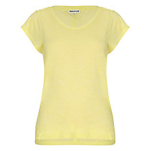 Buy Whistles Faye Marl Seam Back T-Shirt, Yellow Online at johnlewis.com