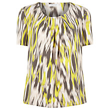 Buy Windsmoor Jersey Printed Top, Brown Online at johnlewis.com