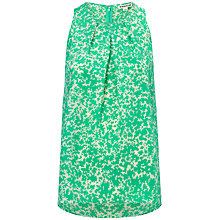 Buy Whistles Silk Crystalized Floral Swing Top, Multi Green/Ivory Online at johnlewis.com