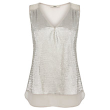 Buy Oasis Crinkle Foil Vest, Multi Silver Online at johnlewis.com