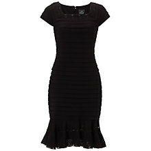 Buy Adrianna Papell Mermaid Skirt Banded Sheath Dress, Black Online at johnlewis.com