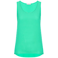 Buy Whistles Silk Vest, Marine Green Online at johnlewis.com