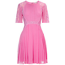 Buy Whistles Lace Linn Dress, Pink Online at johnlewis.com