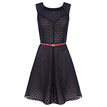 Buy Oasis Petal Burnout Dress, Navy Online at johnlewis.com
